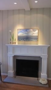 Mantle designed in conjunction with and fabricated by Micheal Parks Construction